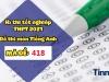 Đáp án đề thi môn Tiếng Anh THPT Quốc gia 2021 mã đề 418