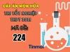 Đáp án môn Hóa học mã đề 224 kì thi THPT Quốc gia 2021