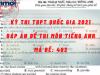 Đáp án đề thi môn Tiếng Anh mã đề 403 kỳ thi THPT quốc gia 2021 chuẩn nhất