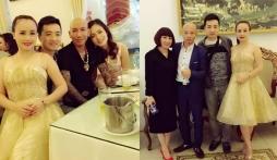Xuất hiện ảnh diễn viên Hoàng Yến và chồng cũ đi tiệc cùng Đường Nhuệ
