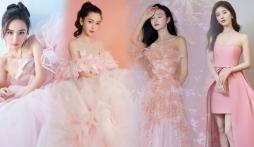 17 mỹ nhân Cbiz đọ sắc trong váy dạ hội màu hồng: Lộ Tư kiêu sa, Dương Mịch quyến rũ, Nhiệt Ba 'ngọt lịm' đến trùm cuối sến súa nổi da gà