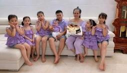 Cặp vợ chồng làm dậy sóng mạng xã hội khi sinh 5 gái 1 trai liền tù tì