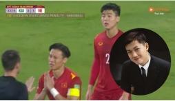 MC 'soái ca' của VTV phản ứng sốc với trọng tài vì Duy Mạnh bị phạt