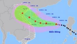 Cập nhật tin bão mới nhất: Bão số 5 Côn Sơn mạnh lên cấp 13, tiếp tục hướng vào đất liền