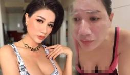Trang Trần vô tình để lộ đường cong cơ thể vì góc quay táo bạo chẳng kém Ngọc Trinh