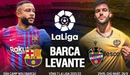 Nhận định Barcelona vs Levante (21h15, 26/09) vòng 6 La Liga: Hy vọng vào dàn sao trẻ