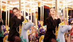 Khoảnh khắc Địch Lệ Nhiệt Ba chơi 'thú nhún' gây sốt cả Weibo: Mãi là 'em bé' của Dương Dương nhé!
