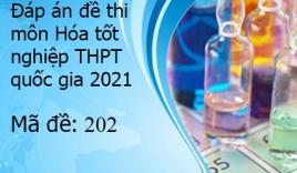 Đáp án đề thi môn Hóa tốt nghiệp THPT Quốc Gia 2021 mã đề 202