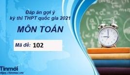 Đáp án đề thi THPT Quốc Gia 2021 môn Toán mã đề 102