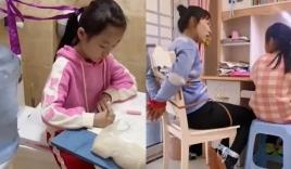 Bà mẹ chuẩn bị '7749' cách, thậm chí tự 'lấy dây buộc mình' để dạy con học khiến hội phụ huynh 'tâm phục'
