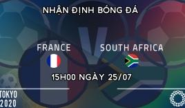 Dự đoán U23 Pháp vs U23 Nam Phi, 15h00 ngày 25/07: Bảng A môn bóng đá nam Olympic