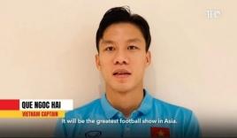 Đội trưởng Quế Ngọc Hải đại diện ĐT Việt Nam nhận đặc quyền của AFC