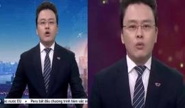 BTV Hữu Bằng VTV lộ khoảnh khắc khó đỡ khi đang dẫn bản tin Thời sự 19h