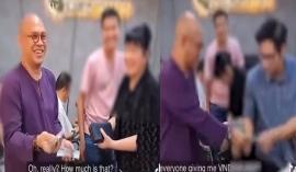 Lộ clip 'ông trùm' Điền Quân 'bội thu' tiền từ thiện hậu bị bà Phương Hằng vạch mặt
