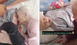 Xúc động khoảnh khắc mẹ già 105 tuổi khóc nức nở khi gặp con gái 80 sau 3 tháng giãn cách