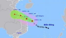 Tin bão khẩn cấp: Cơn bão số 6 mạnh cấp 10 đang tăng tốc tiến vào đất liền nước ta