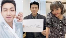 Sao Kbiz nô nức trong Tết Trung thu: BTS cực bảnh với Hanbok, Lisa bánh bèo