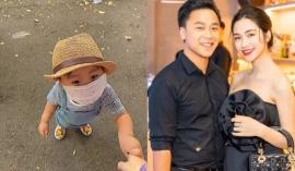 Bé Bo nhà Hòa Minzy mới 2 tuổi đã có hành động 'người lớn' khiến bố đại gia cười ngất