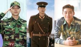 8 nam thần Kbiz mặc quân phục mlem 'muốn xỉu': Song Joong Ki, Hyun Bin vẫn chưa là gì