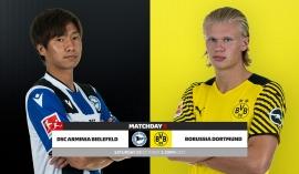Link xem trực tiếp bóng đá Bielefeld vs Dortmund (20h30, 23/10) vòng 9 Bundesliga