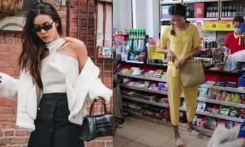 Lộ ảnh chụp lén siêu mẫu Minh Tú sau thời gian giãn cách: Hốt hoảng phong cách 'chân quê chưa rửa phèn'