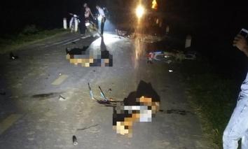 Nhiều xe máy tông nhau trong đêm Trung thu khiến 5 người tử vong, 3 người nhập viện