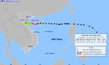 Vừa vào Vịnh Bắc Bộ, bão số 8 suy yếu nhanh thành áp thấp nhiệt đới