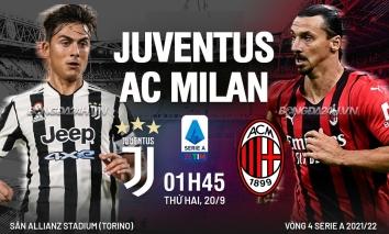 Nhận định Juventus vs AC Milan (1h45, 20/09) vòng 4 Serie A: Sau Ronaldo là bão tố