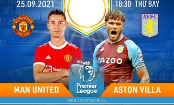 Nhận định Man Utd vs Aston Villa (18h30, 25/09), vòng 6 Premier League: Không thể cản Ronaldo