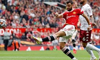Kết quả Man Utd vs Aston Villa: Sút penalty thảm họa, Bruno Fernandes 'đá văng' cơ hội của MU