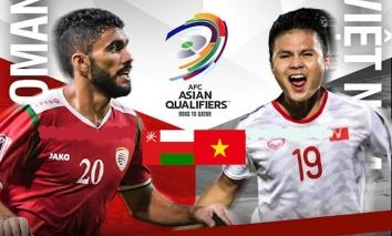 Trực tiếp Oman vs Việt Nam (23h00, 12/10) vòng loại World Cup: Tuấn Anh vắng mặt, Công Phượng đá chính