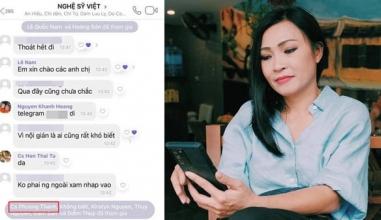 Phương Thanh tuyên bố gắt khi bị nghi xuất hiện trong nhóm chat 'NGHỆ SĨ VIỆT'