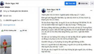 Quận 3: Thông tin ông Đoàn Ngọc Hải phản ánh trên Facebook gây hiểu nhầm