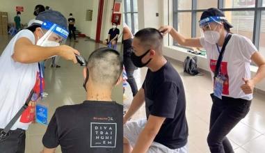Phương Thanh nhận cơn mưa lời khen khi tự tay cắt tóc cho bác sĩ, quân nhân mùa dịch