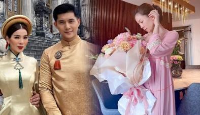 Lệ Quyên và tình trẻ Lâm Bảo Châu lên chức bố mẹ, 'nữ hoàng phòng trà' sắp cưới?