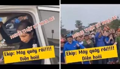 Lộ clip tố cáo Thủy Tiên dàn dựng trong lúc cứu trợ miền Trung, dân tình đòi 'ba mặt một lời'