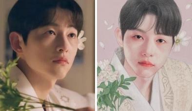 Sao Kbiz tựa thần tiên dưới bút vẽ của họa sĩ Hàn: Song Joong Ki phi giới tính, Jisoo thần thái thoát tục