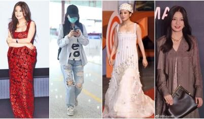 Hãy để Triệu Vy định nghĩa cho bạn biết thế nào là mặc xấu: Đội tóc 'giả trân', áo quần 'sến rện', bán trà đá hay gì?