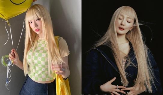 Cùng 'đảo ngói' với kiểu tóc vàng, mái ngố: Dương Mịch - Taeyeon ai lột xác ngoạn mục hơn?