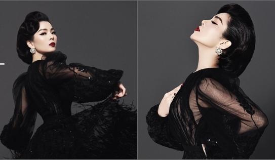 Lệ Quyên lộng lẫy tựa thiên nga đen, nhưng không quên diện váy mỏng tang khoe vòng 1 nức nở