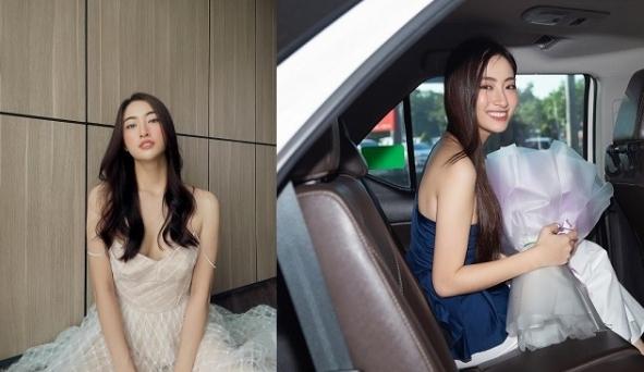 Hoa hậu Lương Thùy Linh buông lơi dây áo chỉ một sơ sẩy cũng dễ gặp sự cố