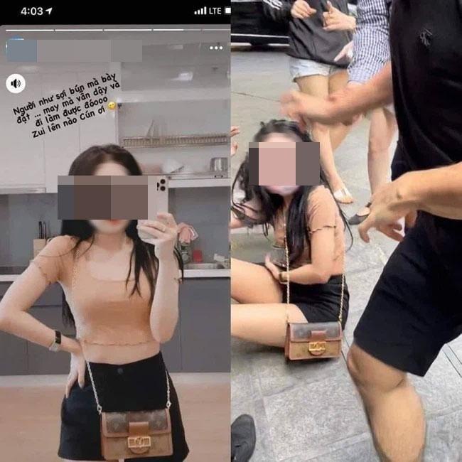 Hot girl L.P.A từng bị đánh ghen trên phố hồi tháng 5