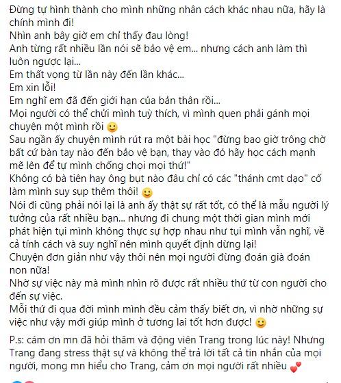 Lương Minh Trang tiếp tục vạch trần cuộc hôn nhân thất bại với Vinh Râu, quyết ra đi tay trắng 2