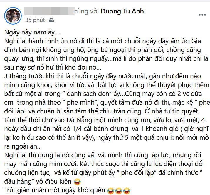Nữ MC gợi cảm của VTV - Tú Anh bị mẹ ruột tiết lộ quá khứ đầy nước mắt 1