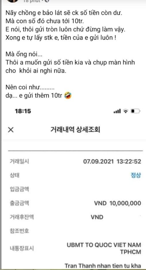 Hari Won tiết lộ về số tiền 'lạ' còn dư trong bản sao kê của Trấn Thành 1