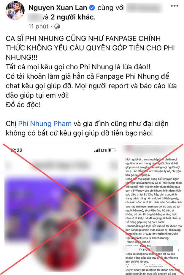 Đồng nghiệp bức xúc khi tên tuổi của Phi Nhung bị lợi dụng trong lúc nằm viện 2
