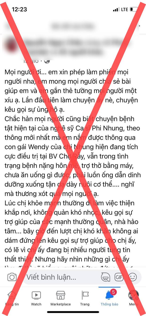 Đồng nghiệp bức xúc khi tên tuổi của Phi Nhung bị lợi dụng trong lúc nằm viện 1