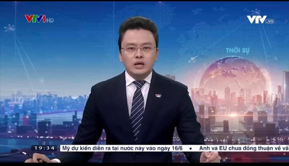 BTV Hữu Bằng VTV lộ khoảnh khắc khó đỡ khi đang dẫn bản tin Thời sự 19h 1