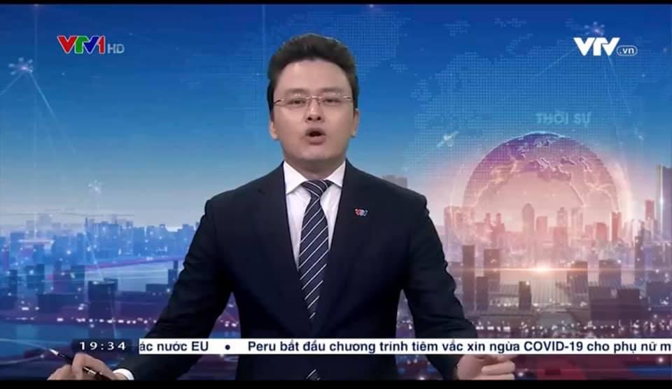 BTV Hữu Bằng VTV lộ khoảnh khắc khó đỡ khi đang dẫn bản tin Thời sự 19h 2