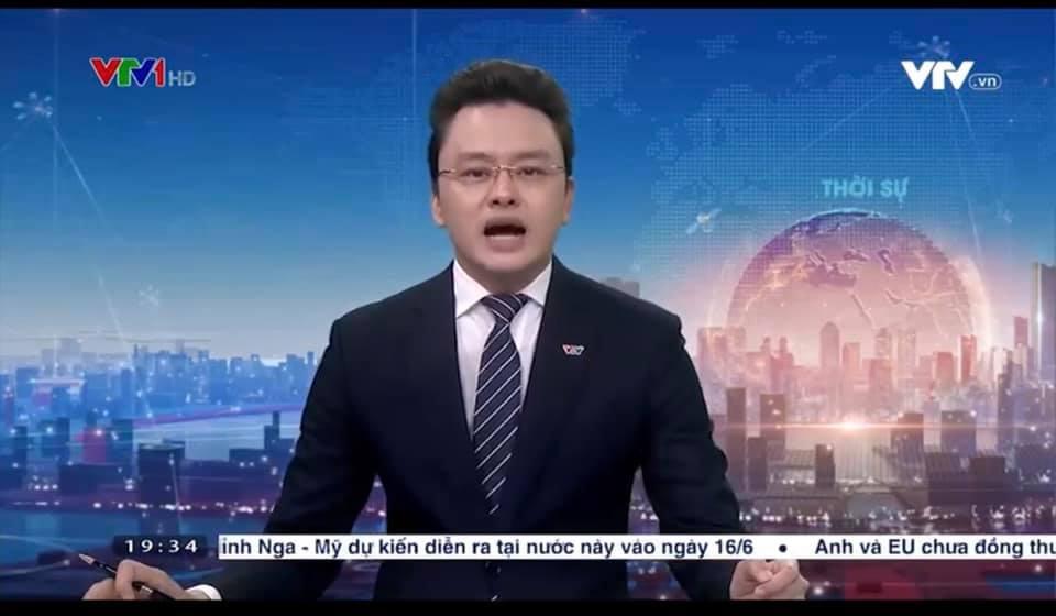 BTV Hữu Bằng VTV lộ khoảnh khắc khó đỡ khi đang dẫn bản tin Thời sự 19h 3